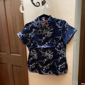 Women's silk Chinese top